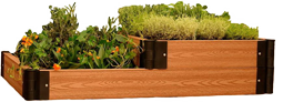 Доска для грядки из ДПК - очередное современное решение в садоводстве