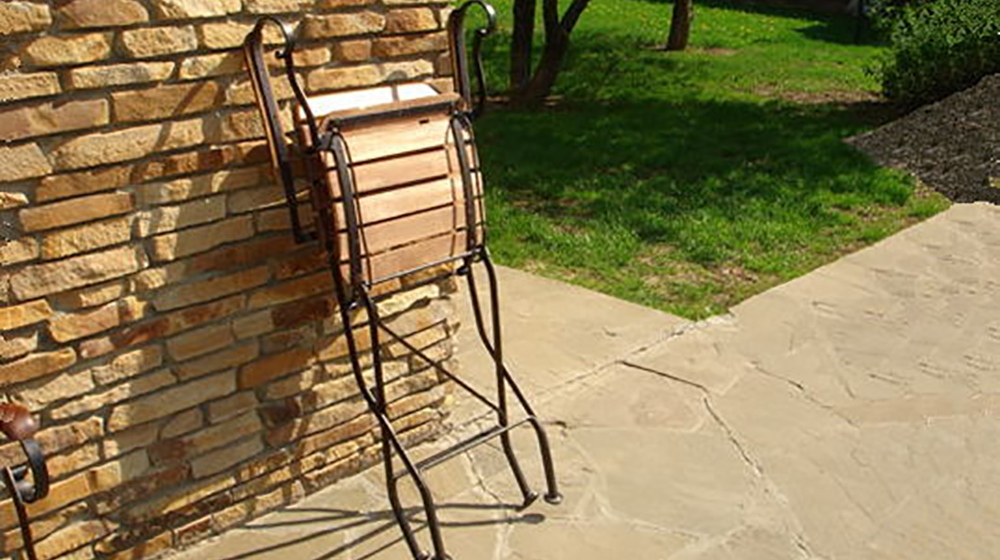 складное кованое кресло (дуб)
