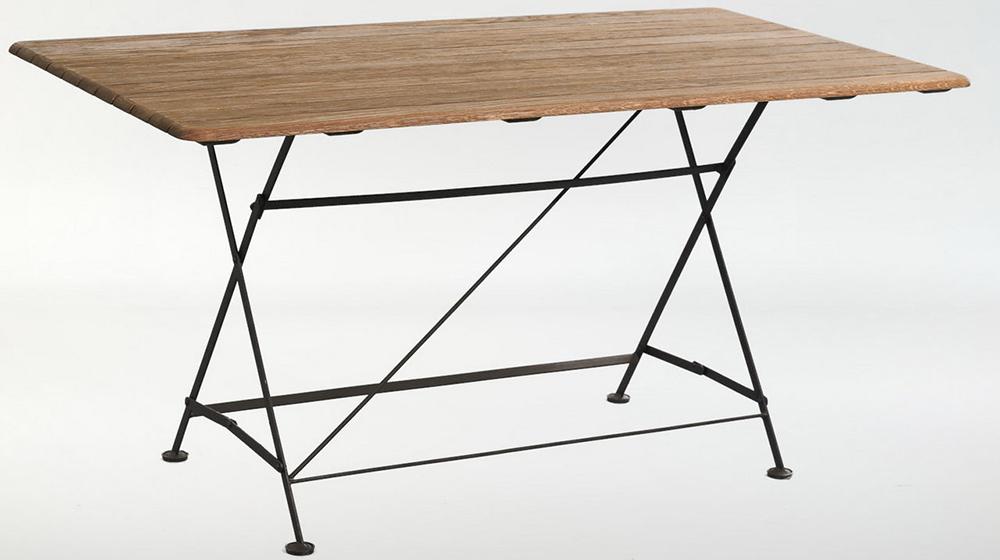 складной кованый стол на 6 персон