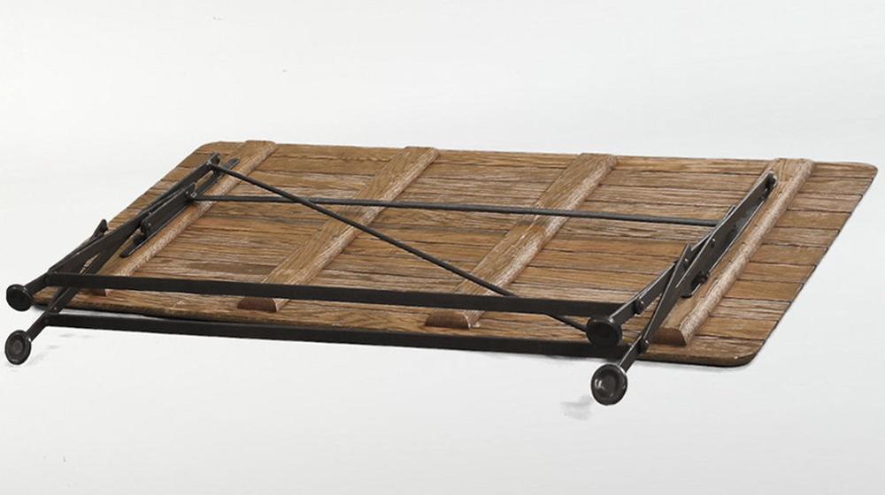 кованый стол (дуб) в собранном виде