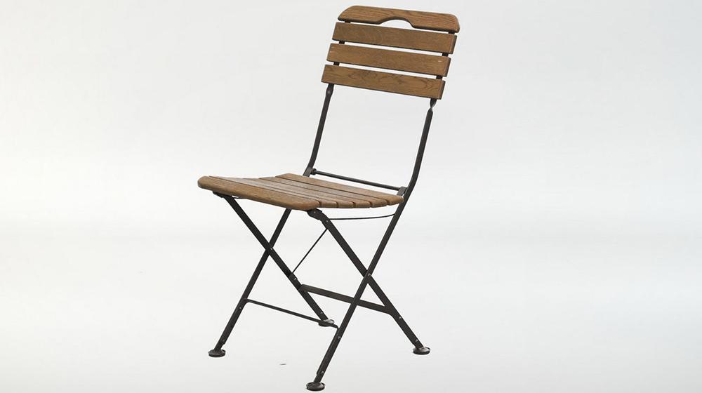 складной стул - ковка+дуб