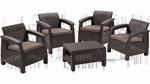 набор мягкой мебели на четыре персоны