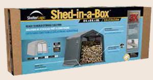 тентовые сараи Shelter Logic упакованы в удобную коробку